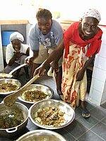Les cuisinières de l'association Perspective Sénégal